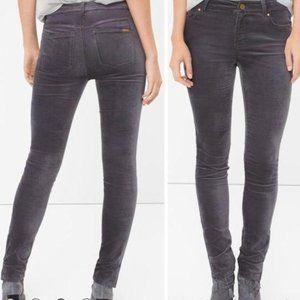 WHBM Skimmer Velvet Jeans Pants Gray Size 4